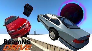 Insane Black Hole Causes Huge Highway Crash! - BeamNG Gameplay & Crashes
