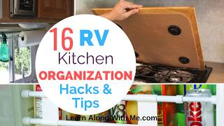 Want some RV Kit¢hen Organization hacks? (yes please)