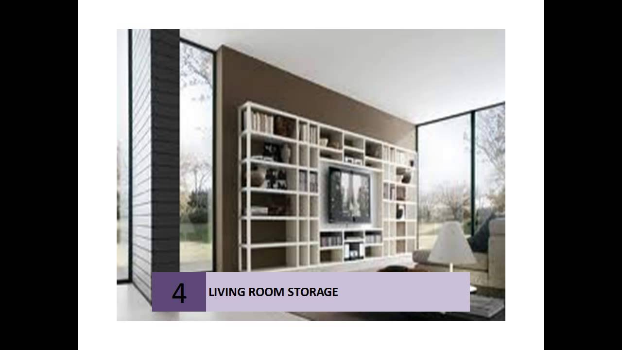 Clever Living Room Storage Ideas   YouTube