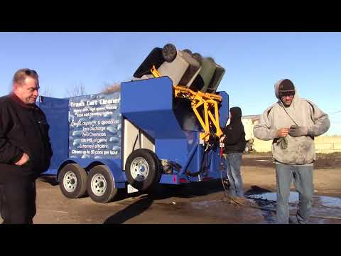 TRASH CART CLEANING DEMO WASTE CO 3  HYDRO-CHEM SYSTEMS