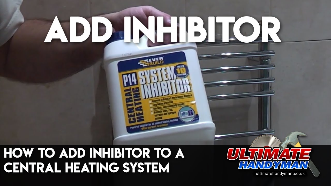 How to add inhibitor to a central heating system - YouTube