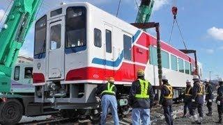 三陸鉄道南リアス線・新型車両を搬入