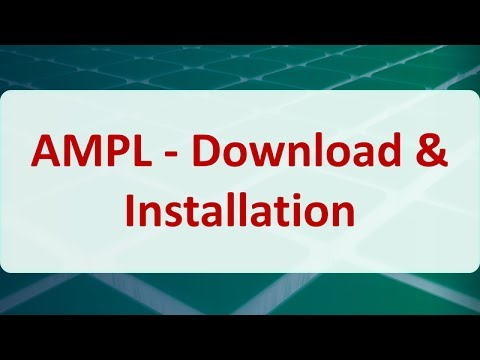 Operations Research 15A: AMPL  Download & Installation