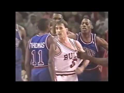 NBA on NBC Intro - 1992 - Bulls vs. Pistons - Rivalry - Michael Jordan