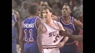 NBA on NBC Intro - 1992 - Bulls vs. Pistons - Rivalry - Michael Jordan