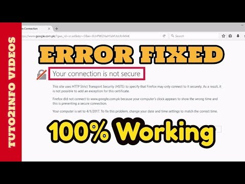How to Fix Your Connection is Not Secure Firefox | SEC_ERROR_UNKNOWN_ISSUER  | 100% Working
