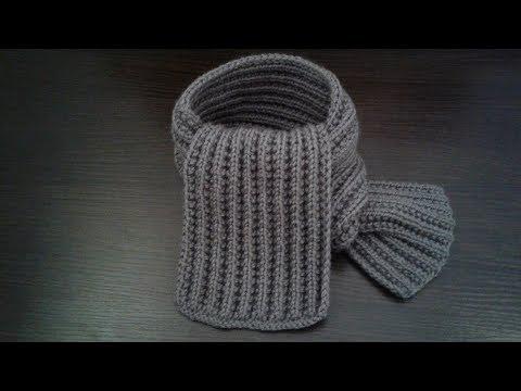 Вязание спицами шарфа для мальчиков