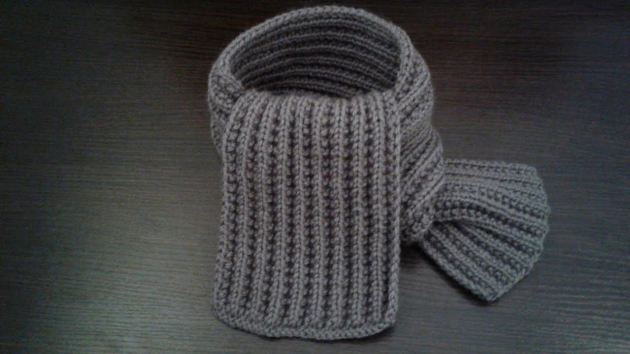 детский шарф спицами шарф граненной резинкой Youtube