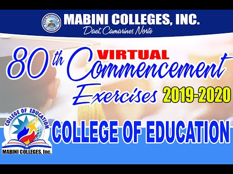 College Of Education: 80th Commencement Exercises (Virtual Rites 2020)