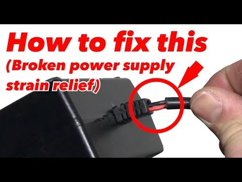 How to repair a broken cord strain relief with exposed wires