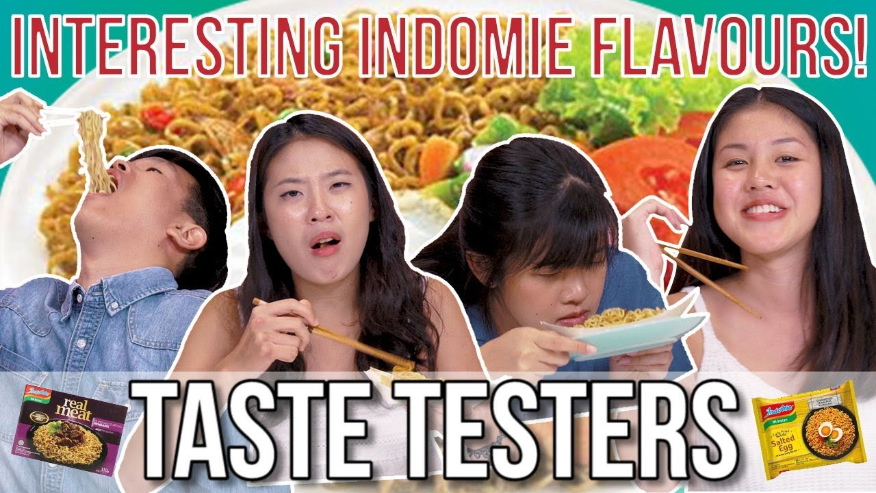 Salted Egg And Other Interesting Indomie Flavours Taste Testers Ep 74