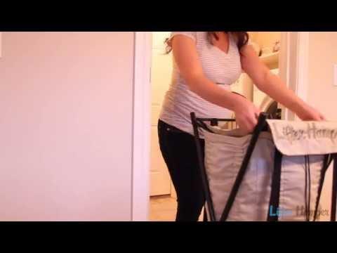 LifterHamper - bungee spring loaded laundry hamper