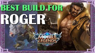 Mobile Legends Best Build In Any Situation For Roger | Mythical Academy # 2