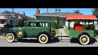 1929 Model A Town Sedan & Calliope Custom Trailer For Sale, CA