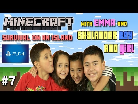 Lets Play Minecraft Ethan, Emma and Cousins  PS4 4 Players C
