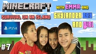 Lets Play Minecraft Ethan, Emma and Cousins  PS4 4 Players Co-op