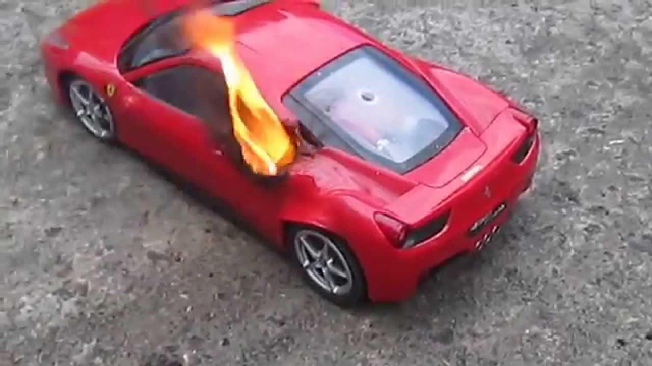 Ferrari 458 Model Fire