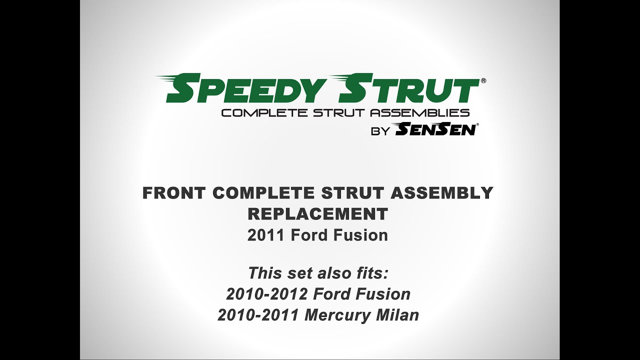 Replacement Of Front Complete Strut Assemblies On A  Ford Fusion L Sensen Shocks Struts