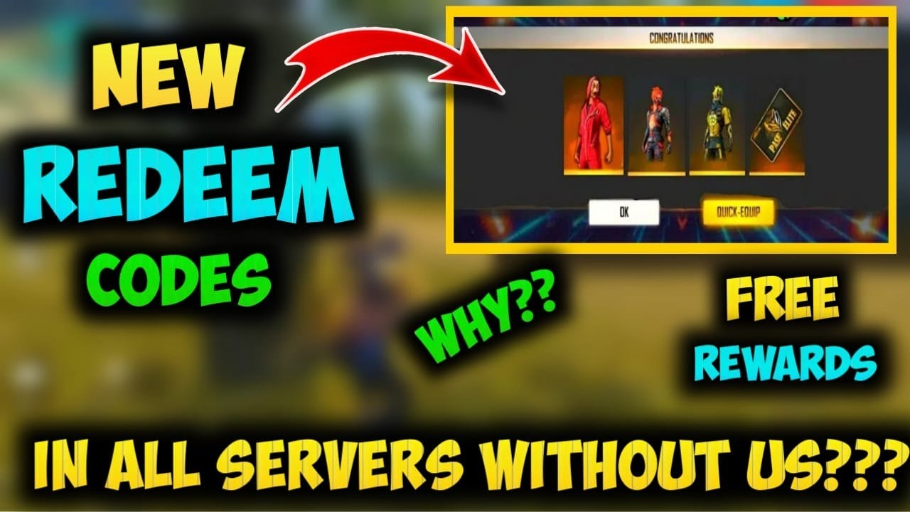 Free Fire New Redeem Code Today 2020 Ff Rewards Redemption Unequal Server Prize Distribution Youtube