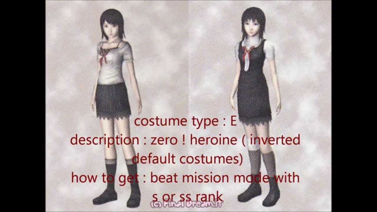 Fatal Frame II costumes (ps2) - YouTube