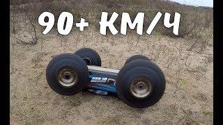 Тест-драйв бешеной JLB Racing J3SPEED ... Дуем блины, 90+ км/ч с крашем