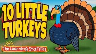 Video Thanksgiving Songs for Children - Ten Little Turkeys - Turkey Kids Songs by The Learning Station download MP3, 3GP, MP4, WEBM, AVI, FLV November 2017
