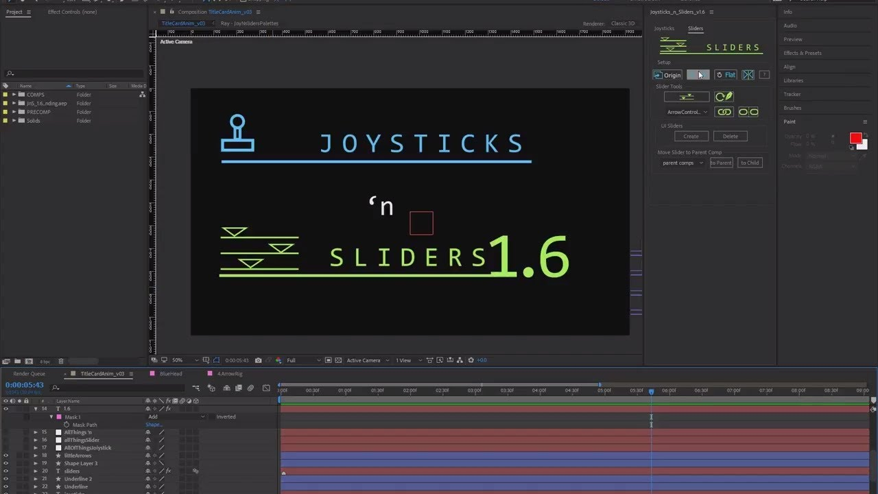 Joysticks 'n Sliders - aescripts + aeplugins - aescripts com