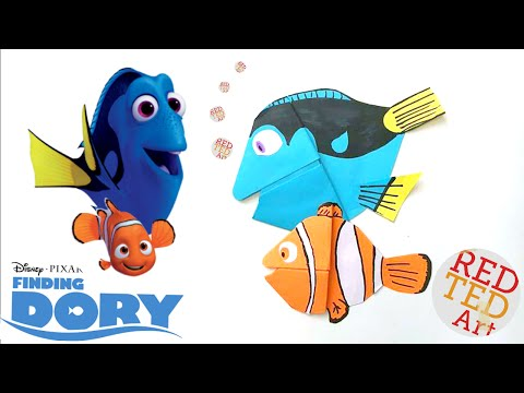 Finding Dory Bookmark - Easy Dory DIY - Paper Crafts Origami - Collab with Natasha Lee