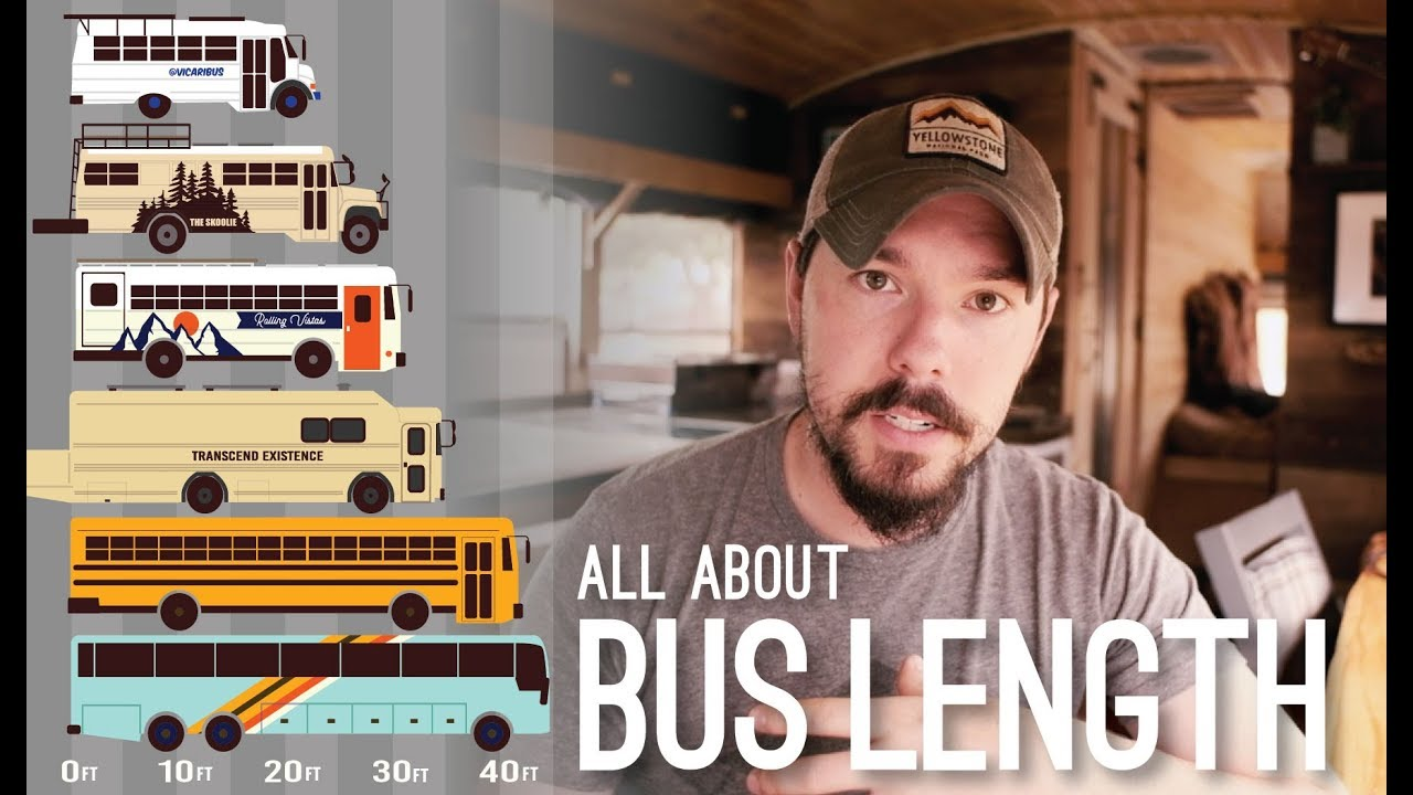 our guide to bus length choosing a school bus size for your conversion skoolie square footage [ 1280 x 720 Pixel ]