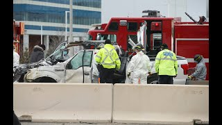 DOUBLE FATAL CRASH: Highway 401 closed at Winston Churchill Blvd.