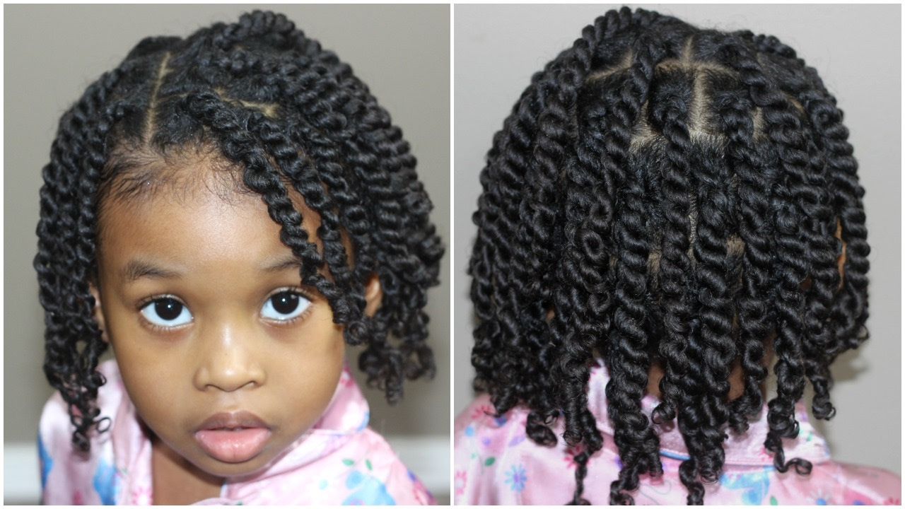 Two Strand Twists For Kids Natural Hair Youtube