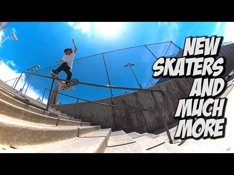 NEW SKATERS AND MUCH MORE !!! - A DAY WITH NKA -