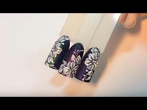 Рисунки пастой на ногтях