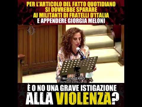Giorgia Meloni: Ecco concetto democrazia di certa stampa: non hanno argomenti e incitano a violenza.