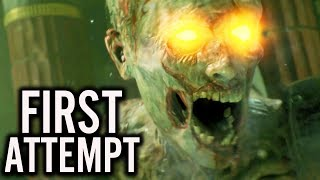 ANCIENT EVIL GAMEPLAY: FIRST ATTEMPT LIVE REACTION (Black Ops 4 Zombies DLC 2 Gameplay)