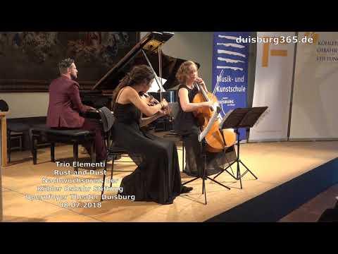 Preistraeger Konzert 2018 der KoehlerOsbahrStiftung Trio Elementi im Theater Duisburg