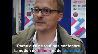 Interview de Patrick Vallélian à l'occasion de la journée du journalisme 2017.