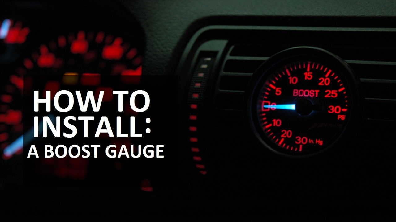 turbo boost gauge install