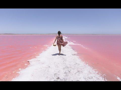Secret Pink Lake, Western Australia (Dji Phantom 4 Pro)
