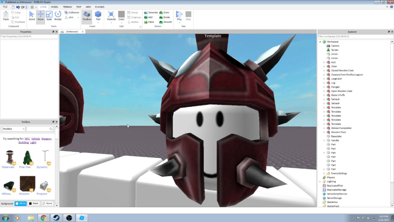 Try Any Hat Roblox Roblox How To Put Clothing And Hats On Npc S In Studio Better Version In Description Youtube