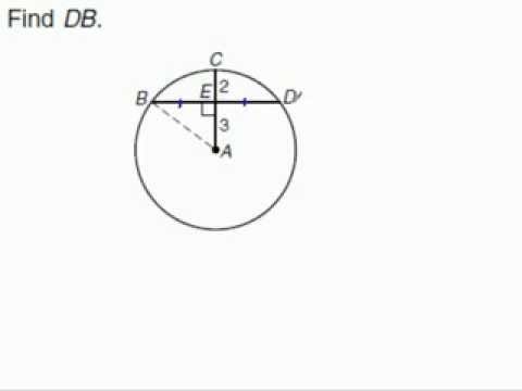 Radius perpendicular to chord in circle youtube radius perpendicular to chord in circle ccuart Image collections