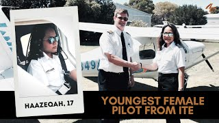 Youngest Female Pilot from ITE - FLIES SOLO!