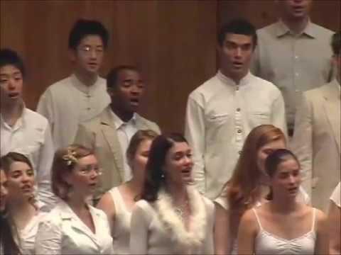 ''Chunchani Mindzhwalo'' (JS Khosa ) by World Youth Choir, South Africa 2007