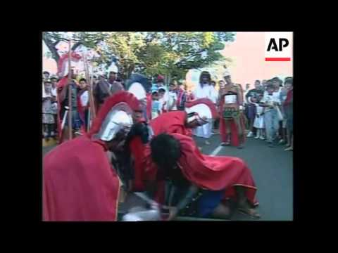 NICARAGUA: MANAGUA: TRADITIONAL HOLY WEEK PROCESSION