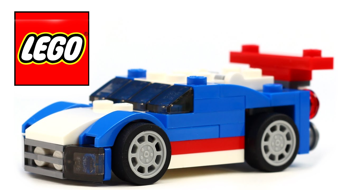 Lego Blue Race Car Nascar Stock Youtube