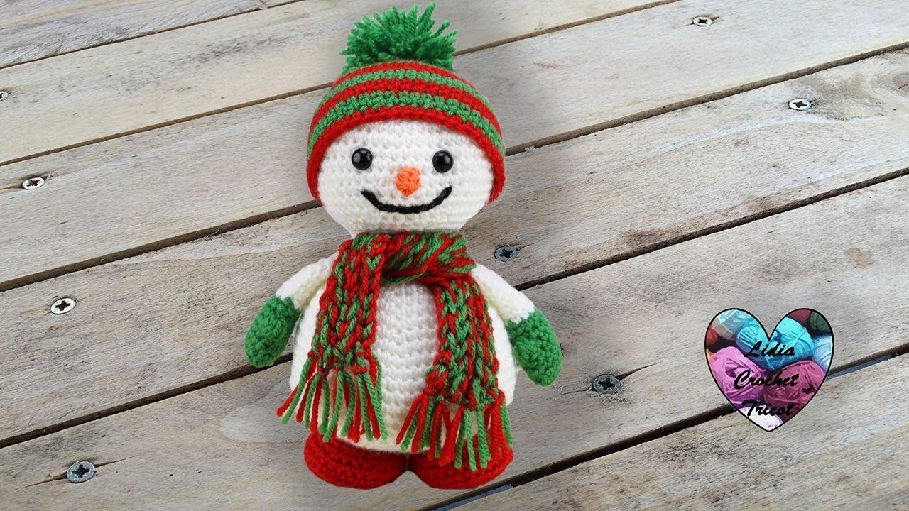 Bonhomme de neige crochet tout mignon pas a pas youtube - Bonhomme de neige en laine ...