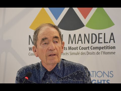 Justice Albie Sachs: Keynote Address at 9th Nelson Mandela World Moot Court Competition