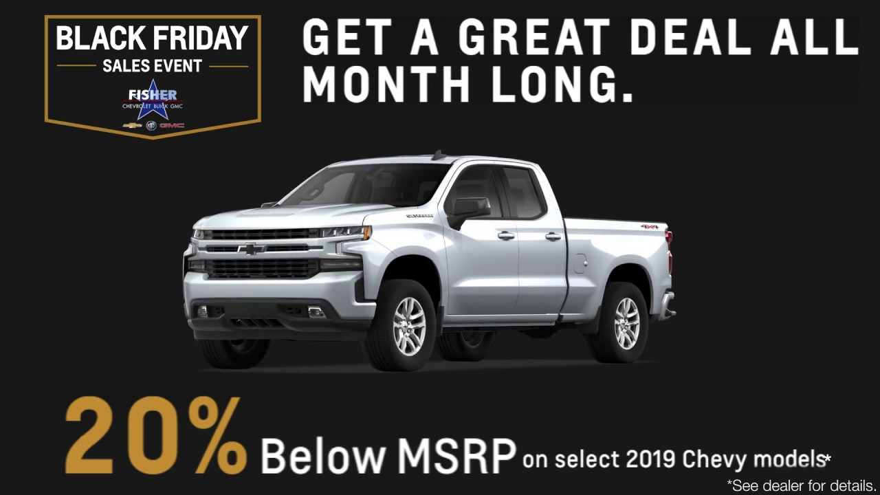 Great Deals All Month Long During The Black Friday Sales Event At Fisher Chevrolet Buick Gmc Youtube