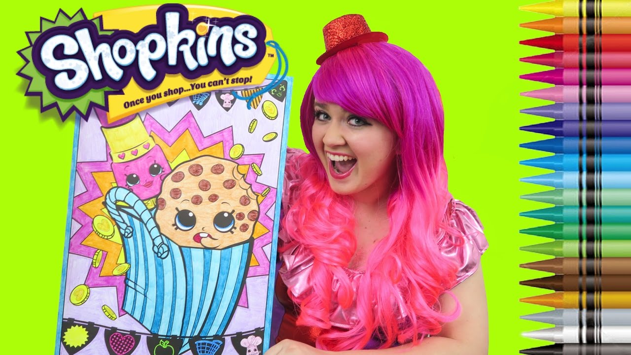 Coloring Shopkins Kooky Cookie Amp Lippy Lips Giant Coloring