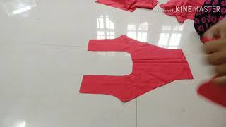 Part 2: How to cut and stitch princess cut blouse in Telugu // princess cut blouse cutting